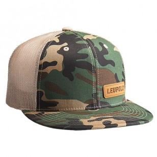 Leupold Leather Patch Camo/Khaki OS Hat รหัส 172599