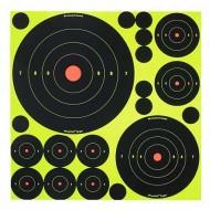 """Shoot-N-C Self-Adhesive Targets - Variety Pack 5-8"""", 5-5.5"""", 10-3"""", 30-2"""", 50-1"""" 50 Targets, 50 Pasters รหัส 34018"""
